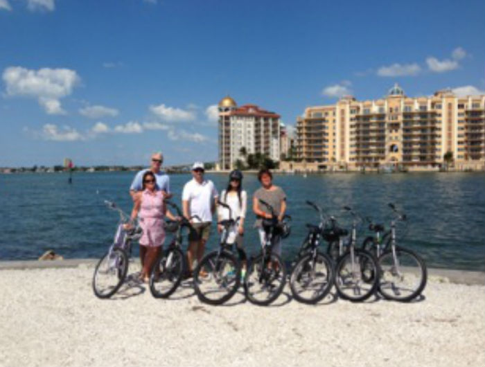 Cycling the sands of Sarasota